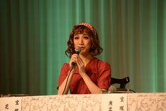 宝塚歌劇花組「Musical『ハンナのお花屋さん ─Hanna's Florist─』」制作発表会より。仙名彩世。