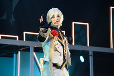 「B-PROJECT on STAGE『OVER the WAVE!』」ゲネプロより、佐々木喜英演じる北門倫毘沙。