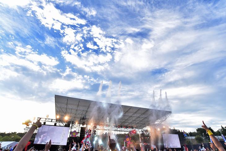 私立恵比寿中学「エビ中 夏のファミリー遠足 略してファミえん in モリコロパーク 2017」の様子。