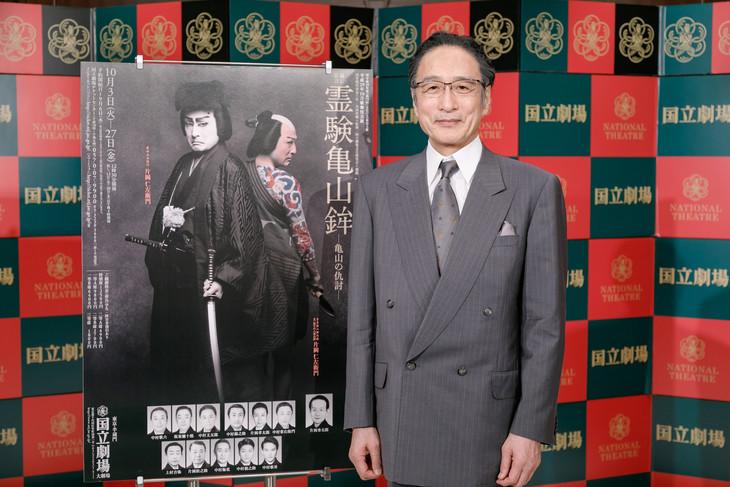 10月歌舞伎公演「通し狂言 霊験亀山鉾(れいげんかめやまほこ)」記者会見より。片岡仁左衛門。