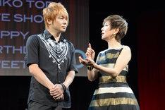 戸田恵子「60th Anniversary Live Show『Happy Birthday Sweet 60』」囲み取材より。左から植木豪、戸田恵子。