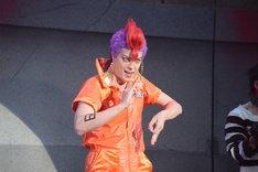 「超!脱獄歌劇『ナンバカ』」公開ゲネプロより。汐崎アイル演じるロック。