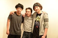 「オーファンズ」囲み取材より。左から佐藤祐基、加藤虎ノ介、細貝圭。