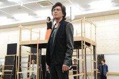 ミュージカル「スカーレット・ピンパーネル」公開稽古より、石井一孝。
