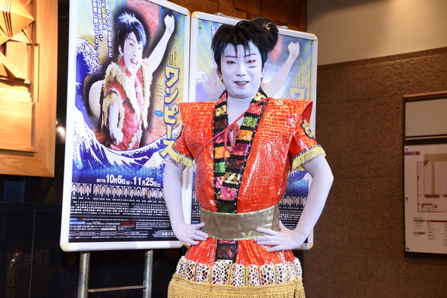 「スーパー歌舞伎II(セカンド)『ワンピース』」囲み取材より、市川猿之助。