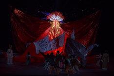 「スーパー歌舞伎II(セカンド)『ワンピース』」公開舞台稽古より、市川猿之助演じるハンコック。