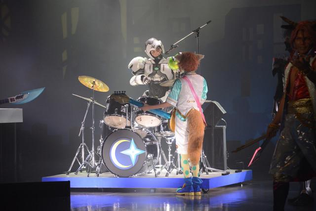 「Live Musical『SHOW BY ROCK!!』-深淵のCrossAmbivalence-」ゲネプロより。