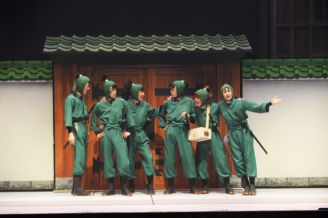 「ミュージカル『忍たま乱太郎』第7弾 再演~水軍砦三つ巴の戦い!~」より。