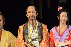 「長いお髭がチャームポイント」と語る豊臣秀吉役の窪寺昭。
