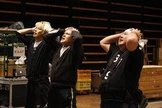 ミュージカル「HEADS UP!」公開稽古より。