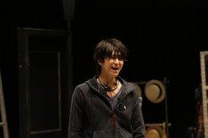 ミュージカル「HEADS UP!」公開稽古より、相葉裕樹。