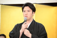 「新春浅草歌舞伎」製作発表より、尾上松也。