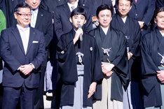 四代目松本金太郎(中央)