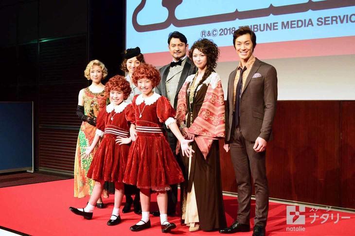 丸美屋食品ミュージカル「アニー」制作発表会見より。