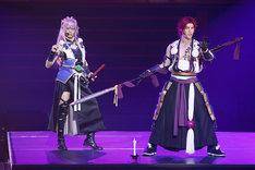 左から太田基裕演じる千子村正、spi演じる蜻蛉切。