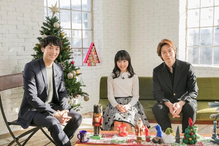 WOWOWライブ「バレエ☆プルミエール」#2の出演者。左から大貫勇輔、本田望結、宮尾俊太郎。