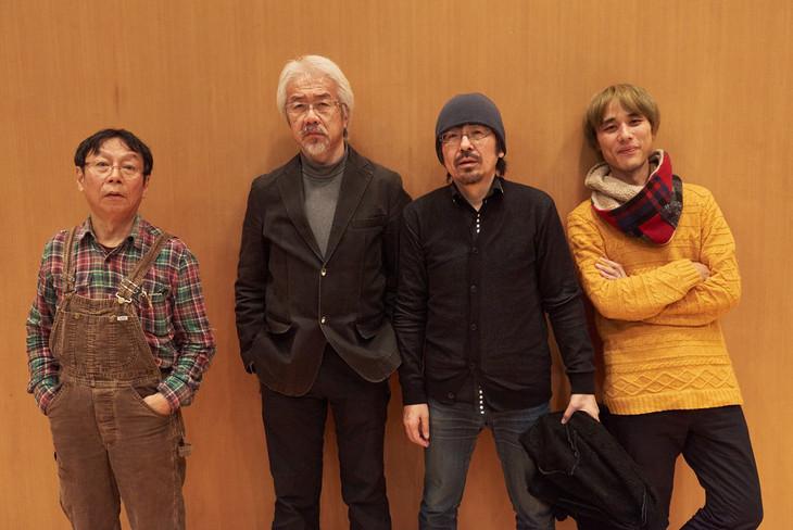 左から柴田元幸、管啓次郎、古川日出男、小島ケイタニーラブ。(撮影:朝岡英輔)