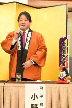 琴平町長の小野正人。