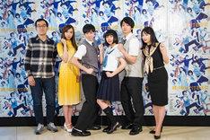 左から上田誠、新内眞衣、戸塚純貴、上白石萌歌、健太郎、MEGUMI。