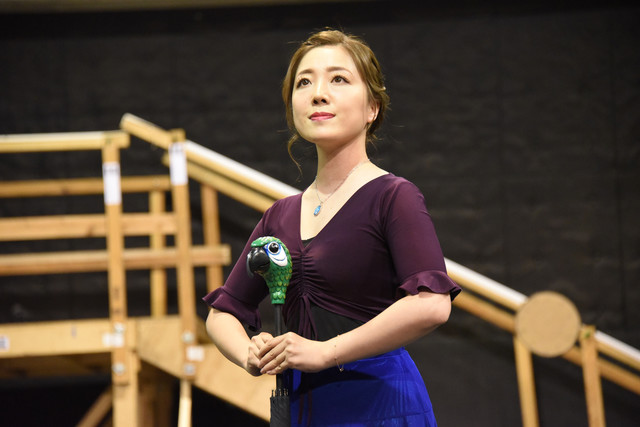 ミュージカル「メリー・ポピンズ」稽古公開より、平原綾香。