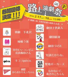 下北沢演劇祭×観劇三昧「路上演劇祭」参加団体