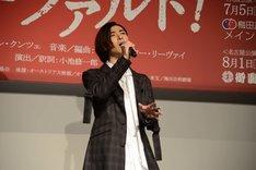 ミュージカル「モーツァルト!」製作発表会見より、熱唱する古川雄大。
