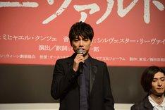 ミュージカル「モーツァルト!」製作発表会見より、山崎育三郎。