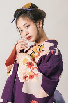 気晴らしBOYZ 第9回本公演「ふらちな侍」ビジュアルより、白井那奈。