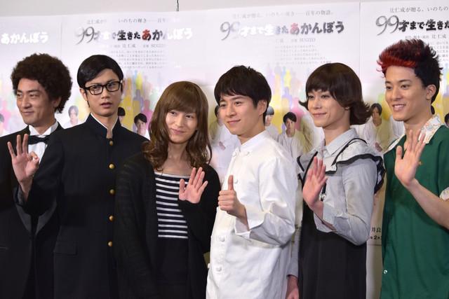 左から松田賢二、馬場良馬、松田凌、村井良大、玉城裕規、松島庄汰。