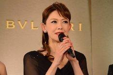 「坂東玉三郎 越路吹雪を歌う『愛の讃歌』」制作発表記者会見より、姿月あさと。