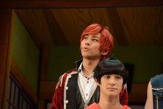 舞台「おそ松さん on STAGE ~SIX MEN'S SHOW TIME 2~」囲み取材より、おそ松(F6)役の井澤勇貴。