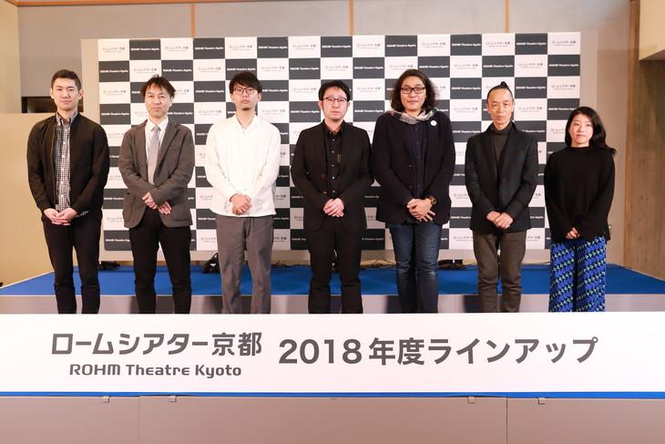 左から橋本裕介、柴田智靖、影山裕樹、遠山昇司、木ノ下裕一、笠井叡、きたまり。