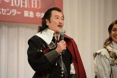 「シラノ・ド・ベルジュラック」製作発表記者会見より、吉田鋼太郎。
