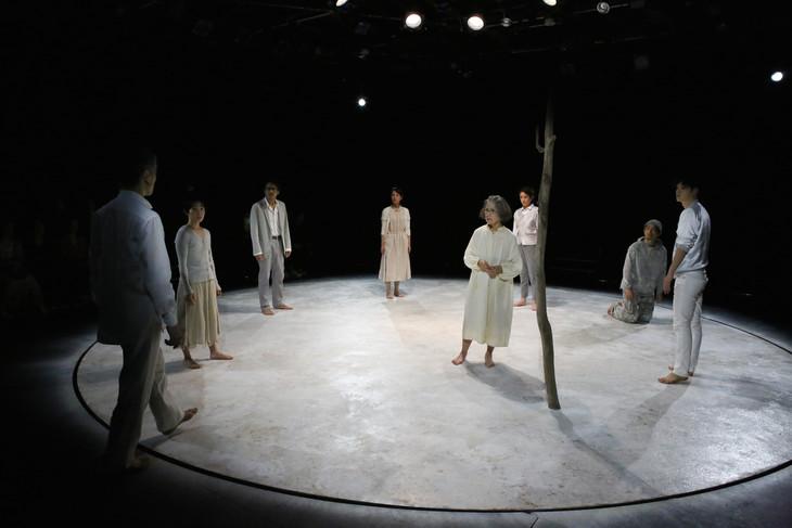 文学座4月アトリエの会 ドイツ現代演劇「最後の炎」より。(撮影:宮川舞子)