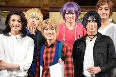 左から小南光司、櫻井圭登、赤澤遼太郎、松本ひなた、松田岳、川村玲央。