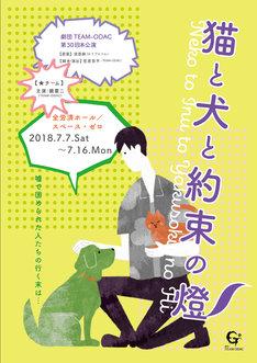 劇団TEAM-ODAC 第20回本公演「猫と犬と約束の燈2018-夏」★チームのビジュアル。