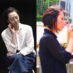 左から荻野友里、遠藤留奈。