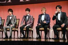左から高橋優斗(HiHi Jets)、玉森裕太、千賀健永、宮田俊哉。