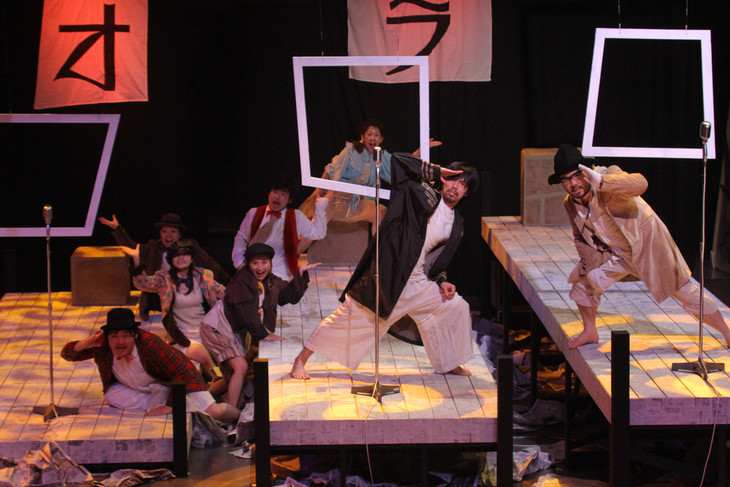 宮崎県立芸術劇場自主制作公演「演劇・時空の旅」シリーズ#8「三文オペラ」より。