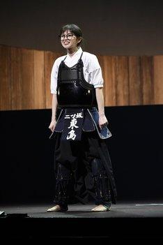 舞台「あさひなぐ」より。齋藤飛鳥演じる東島旭。