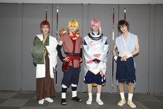左から、ち役の武子直輝、あ役の佐奈宏紀、う役の高橋健介、の役の後藤大。