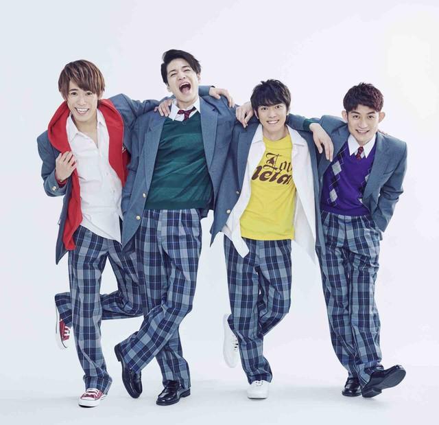 左から越岡裕貴、福田悠太、辰巳雄大、松崎祐介。