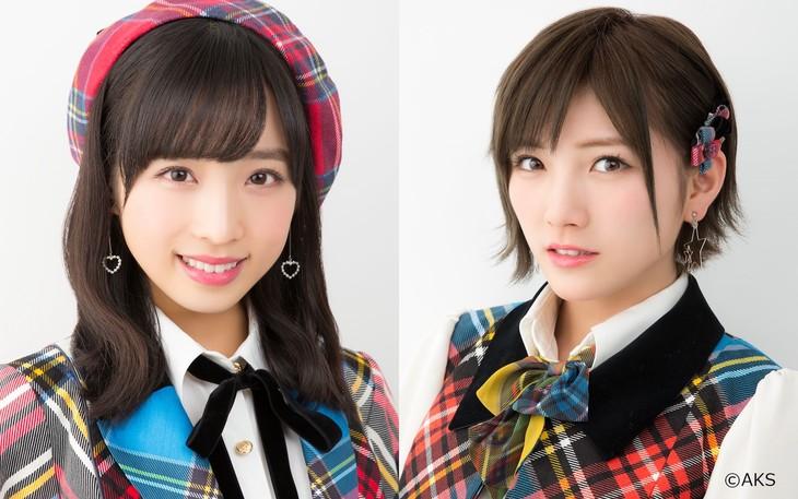 左から小栗有以(AKB48)、岡田奈々(AKB48 / STU48)。