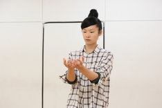 第17回AAF戯曲賞受賞記念公演「シティIII」稽古場より。清水穂奈美。(撮影:前谷開)