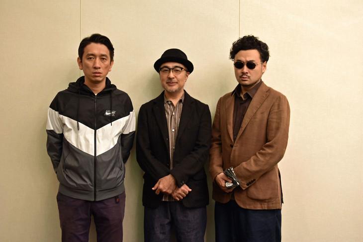 左から岩井秀人、松尾スズキ、前野健太。
