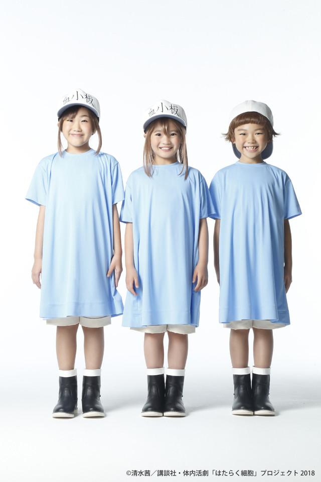 岸田結光、森田恵、木内彩音扮する血小板。