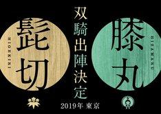 「ミュージカル『刀剣乱舞』 髭切膝丸 双騎出陣2019」ティザービジュアル
