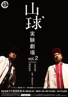 「山球実験劇場」vol.2チラシ