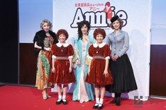 後列左から服部杏奈、早見優、蒼乃夕妃。前列左から岡菜々子、山崎玲奈。