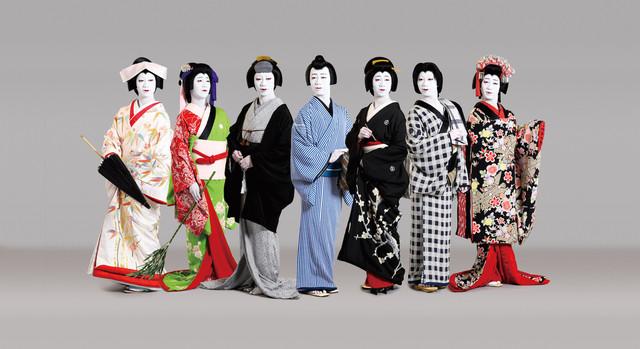 「お染の七役」全役に扮した中村壱太郎のビジュアル。(写真提供:松竹株式会社)